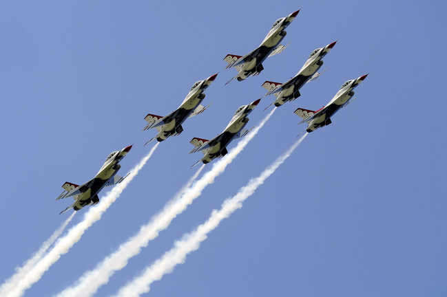 The USAF Thunderbirds on May 8, 2011 in Smyrna, TN.  (U.S. Air Force photo/Staff Sgt Richard Rose Jr)