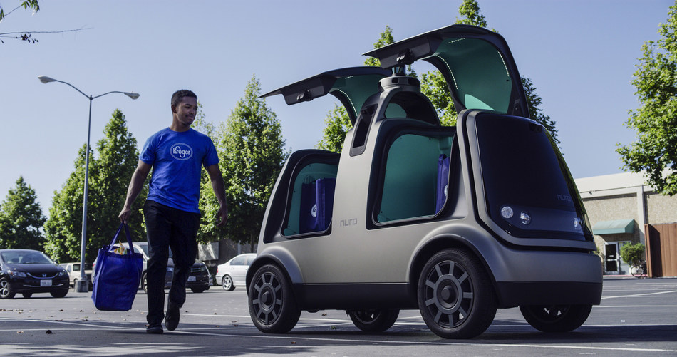 Kroger and Nuro launch autonomous grocery delivery service in Houston, Texas.