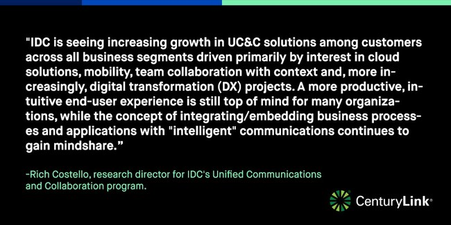To meet growing customer demand for integrated, cloud-based voice and unified communications solutions, CenturyLink has expanded its service portfolio to include Cisco BroadCloud Flex delivered by CenturyLink.