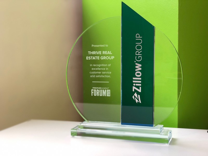 Zillow identified Thrive Real Estate Group (www.ThriveRealEstateGroup.com) as the Number One rated brokerage in the country based on their client experience survey.