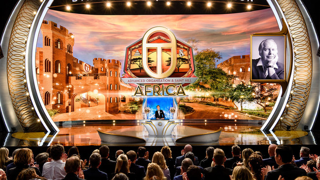 Mr. Miscavige presents the crowning achievement of this year's expansion, the opening of the first new Advanced Organization in over 35 years. The historic dedication of a majestic castle overlooking 22 acres of highveld made the advanced spiritual levels of Scientology available for the first time on African soil.