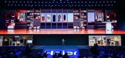 A Haier lançou um conceito de área de lavanderia inteligente na conferência mundial da marca da empresa, em Xangai. (PRNewsfoto/Haier Home Appliances)