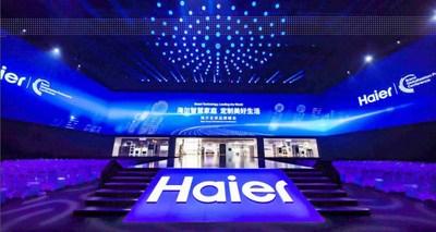 O conceito de área de lavanderia inteligente da Haier cria nova tendência na indústria de máquinas de lavar. (PRNewsfoto/Haier Home Appliances)
