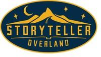 """Storyteller Overland logo """"Live Free. Explore Endlessly. Tell Better Stories."""""""