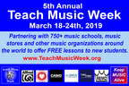 5th Annual Teach Music Week to Offer FREE Lessons to New Students: March 18-24