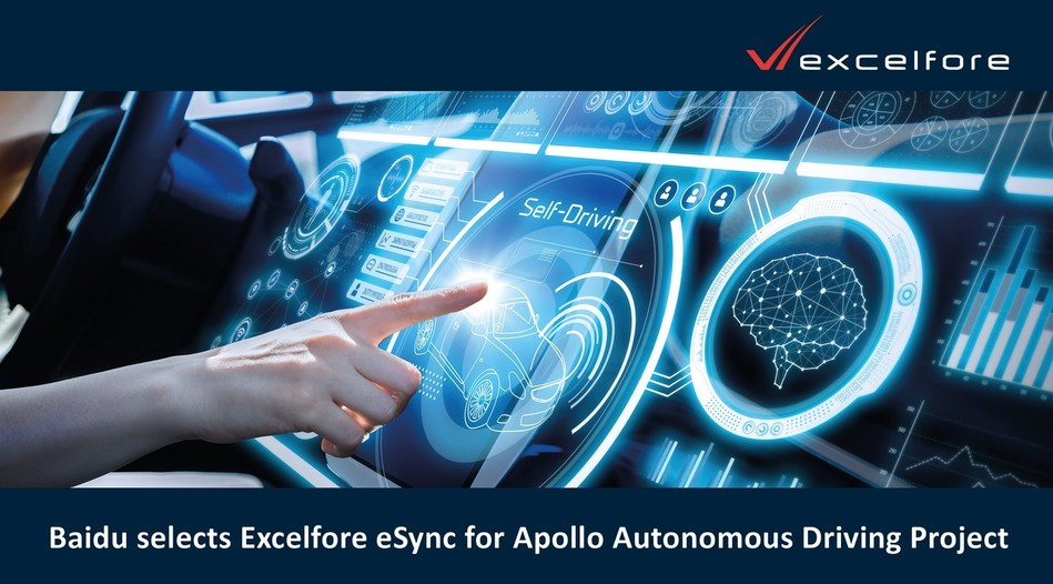 Baidu selects Excelfore eSync for Apollo Autonomous Driving Project.