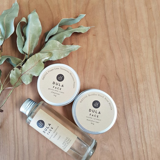 A trio of face products designed to work with each other and specifically formulated to work with damaged and sensitive skin. All using native Australian botanicals.