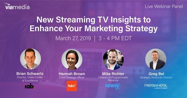 Viamedia Announces Free Webinar on New 2019 Streaming TV (OTT) Insights