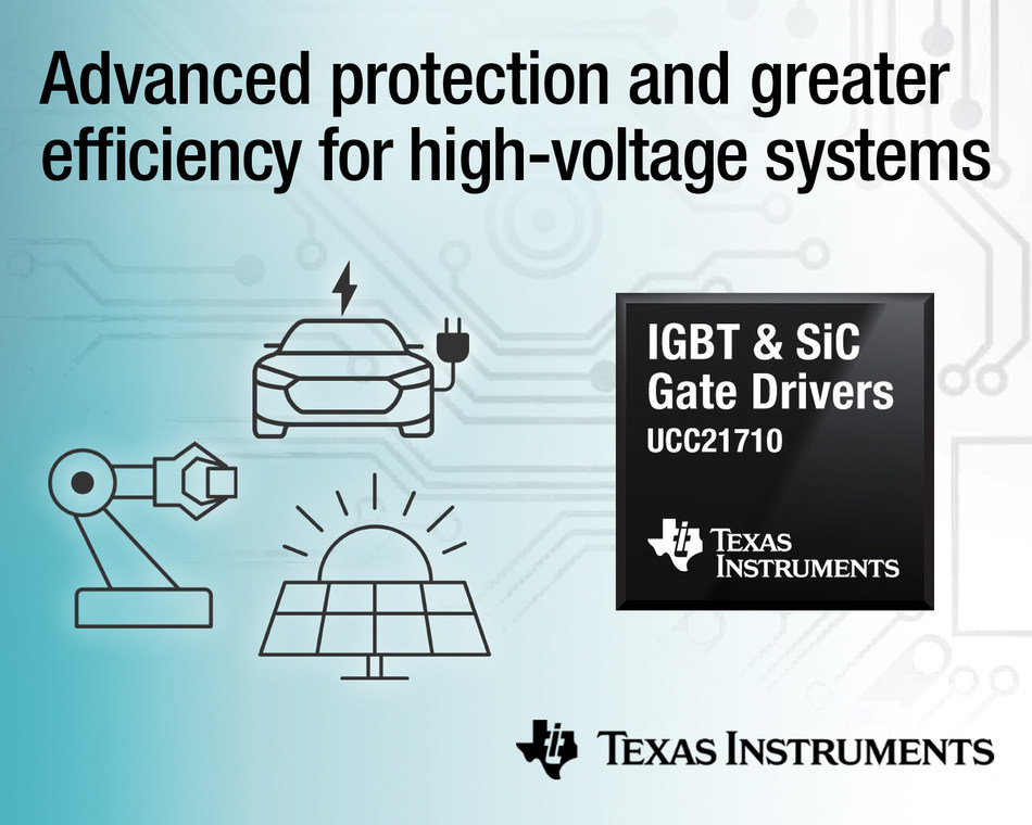 New gate drivers from TI provide advanced monitoring and protection while improving total system efficiency in automotive and industrial applications