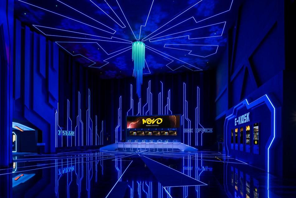 Lobby at Novo Cinemas IMG Worlds of Adventure, Dubai, UAE (PRNewsfoto/Novo Cinemas)