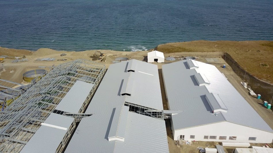 Sixty South new hatchery development north of Porvenir, Tierra del Fuego