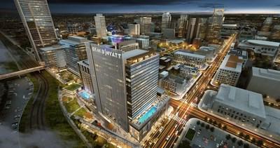 Grand Hyatt Nashville Opens Fall 2020.  Nashvilles Premier Luxury Hotel