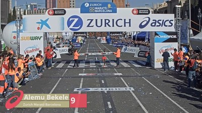 ASICS partner with iRewind to produce innovative marathon finisher content at Zurich Barcelona Marathon