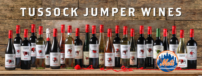 Tussock Jumper Wines Official Partner of the New York Mets