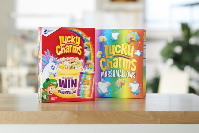 Lucky Charms announced the return of its Lucky Charms Marshmallow Only Promotion. 15,000 winners will receive a limited-edition box filled with rainbow and unicorn marshmallows.