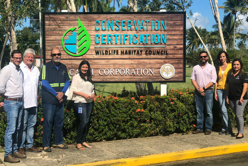 Bacardi Corporation in Puerto Rico, home to the world's largest premium rum distillery in the world, receives the first Wildlife Habitat Council on the island in recognition of its environmental stewardship.