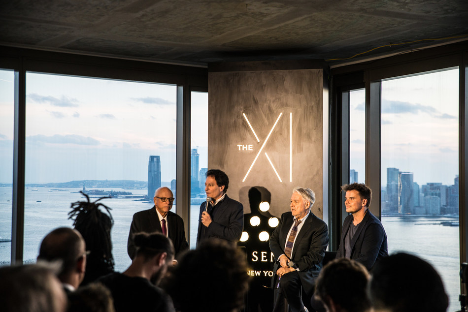 (L-R) Howard Lorber, Chairman of Douglas Elliman; Ziel Feldman, Chairman and Founder of HFZ; Neil Jacobs, CEO of Six Senses Hotels Resorts & Spas; Bjarke Ingels, Founder of Bjarke Ingels Group (BIG) (PRNewsfoto/U.S. Immigration Fund)