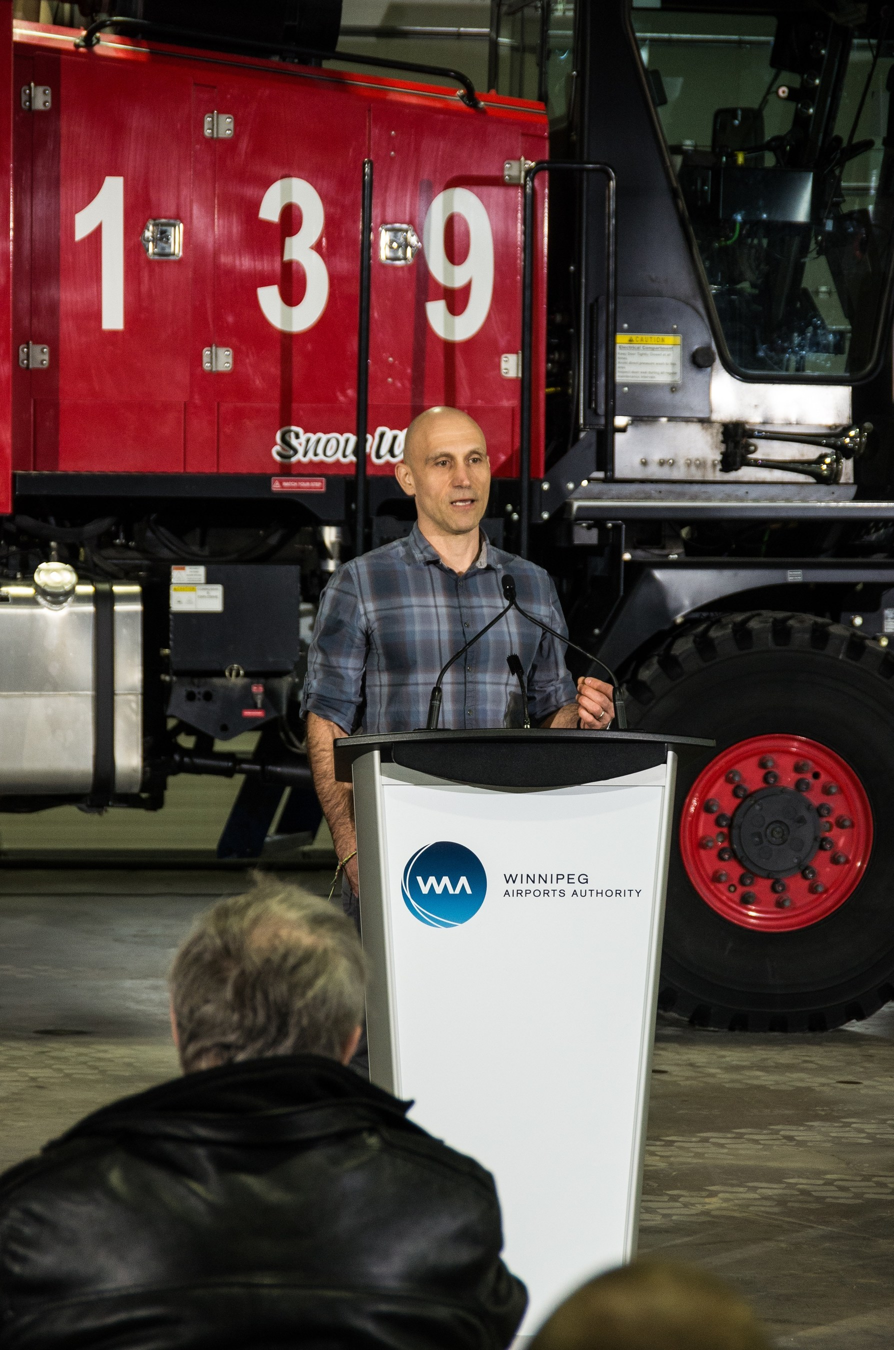 Shawn Schaerer, President and Founder of Northstar Robotics, a company partner in this venture. (CNW Group/Winnipeg Airports Authority Inc.)