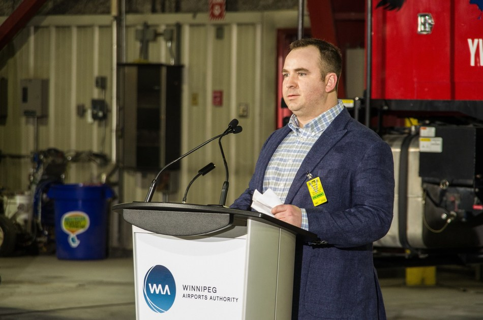 Airport Technologies Inc.'s President, Brendon Smith. (CNW Group/Winnipeg Airports Authority Inc.)