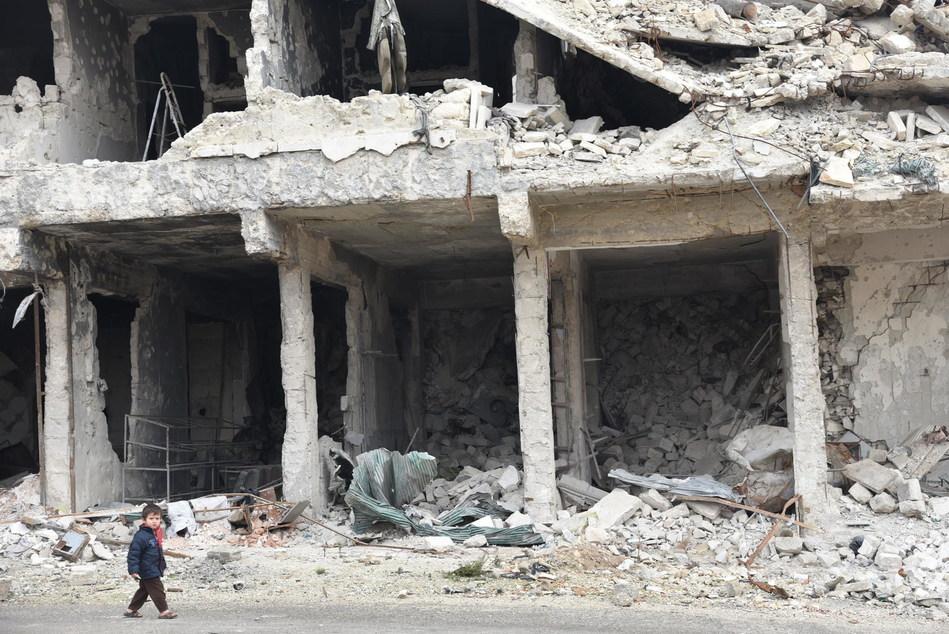 Syrie : 2018 aura été l'année la plus meurtrière pour les enfants, alors que le pays entre dans sa 9e année de guerre. © UNICEF/UN0287092/Grove Hermansen (Groupe CNW/UNICEF Canada)
