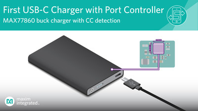 Maxim Integrated's MAX77860 is the industry's first highly integrated USB-C charger that reduces complexity and simplifies software development for a wide range of consumer electronic devices including power banks, medical devices, charging cradles, portable speakers, gaming devices and more.
