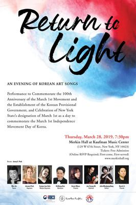 Return to Light: An Evening of Korean Art Songs
