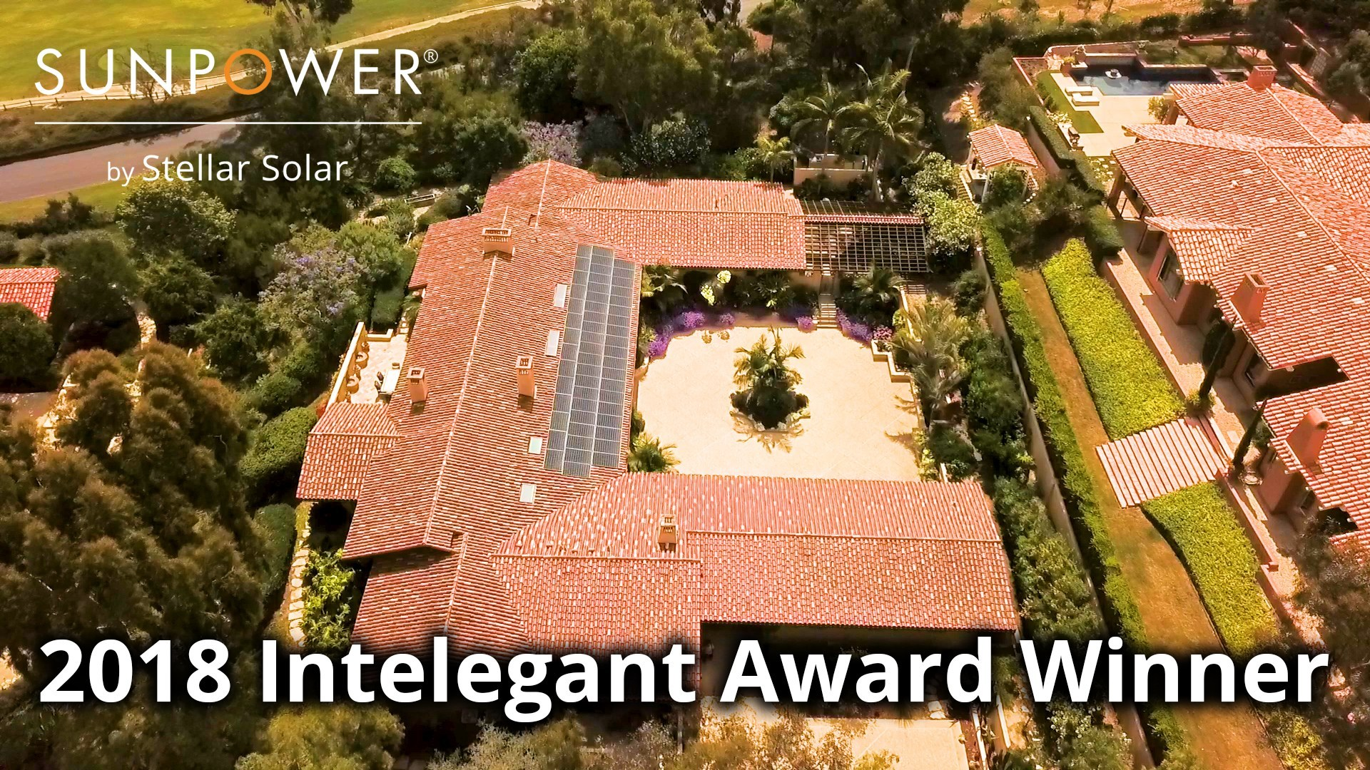 The SunPower by Stellar Solar team accepting their 2018 National Intelegant Award for design excellence