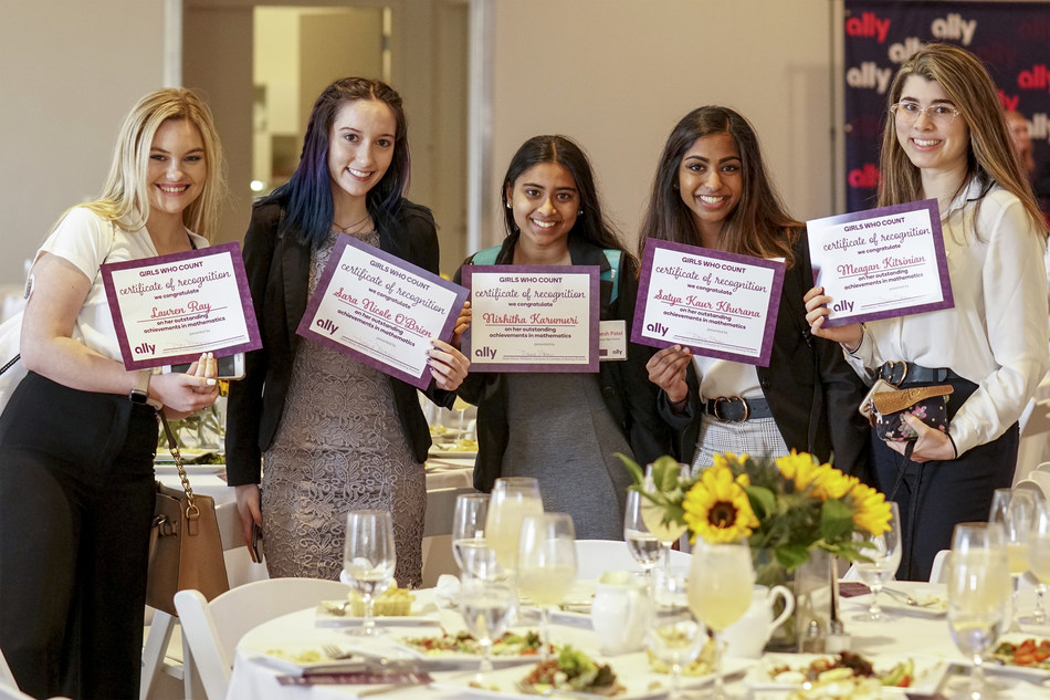 "On Pi Day, March 14, Ally Financial hosted its ""Girls Who Count"" luncheon to honor more than 100 female public, private and charter high school students from the Charlotte-Mecklenburg area for their achievement in mathematics."