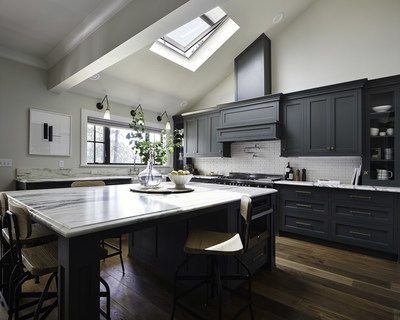 VELUX skylights bring natural light and fresh air to this kitchen designed by Emily Henderson.