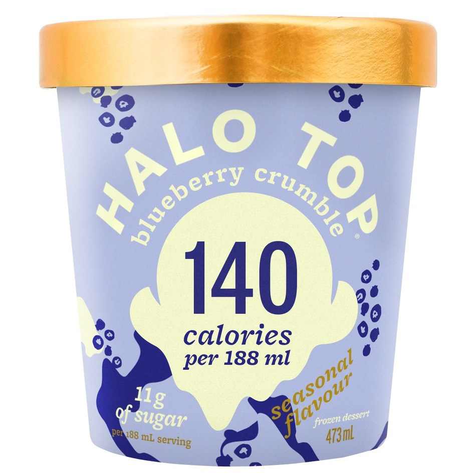 Halo Top Blueberry Crumble Launches in Canada (CNW Group/Halo Top Creamery)