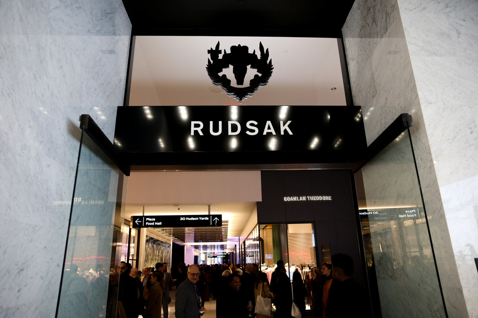 Opening night at the Rudsak store in New York's Hudson Yards Luxury Plaza on March 14, 2019. (CNW Group/RUDSAK)
