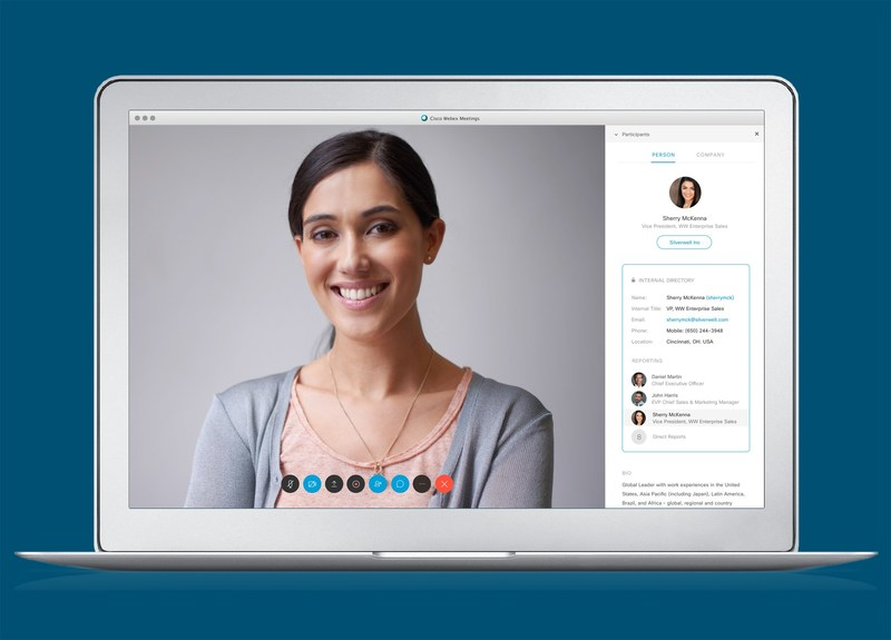 With People Insights in your Webex meeting, you'll get professional profiles about the people you're meeting—in real time.