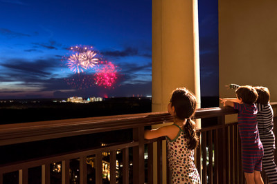 Experience the splendor of the Magic Kingdom Park fireworks, from the terrace of Park View guestrooms.