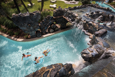 Enjoy the 5-acre Explorer Island, complete with a lazy river, splash zone, two water slides, family pool and much more.