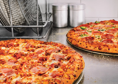 Domino's is celebrating college basketball's biggest month by offering 50 percent off all menu-priced pizzas ordered online March 18-24.