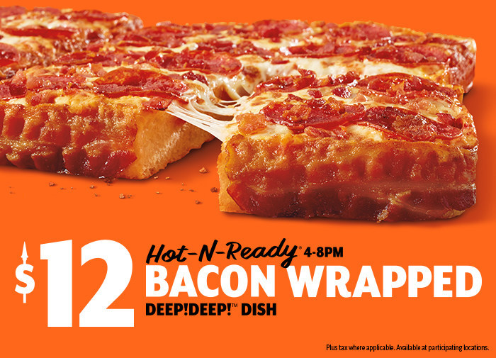 Little Caesars Announces Return Of Bacon Wrapped Deepdeep Dish