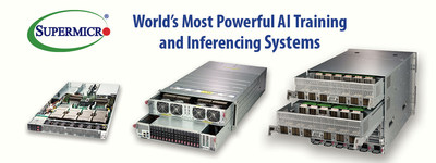 Supermicro offers industry's most comprehensive portfolio of GPU Servers