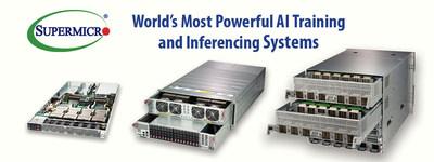 Supermicro oferece o mais completo portfólio de servidores GPU do setor
