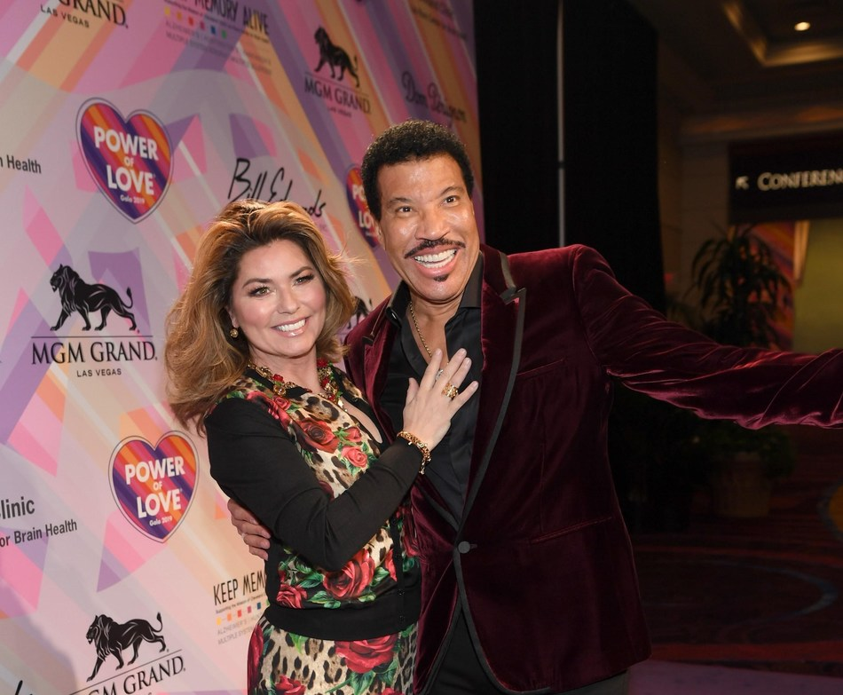 Shania Twain and Lionel Richie. Credit Denise Truscello/Getty Images for Keep Memory Alive.