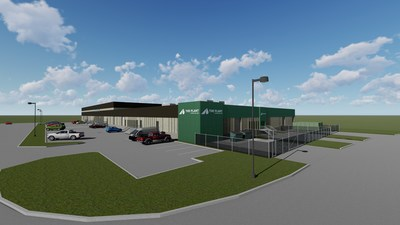 Artist's rendering of The Plant by Westleaf Labs under construction in South East Calgary, Alberta (CNW Group/Westleaf Inc.)