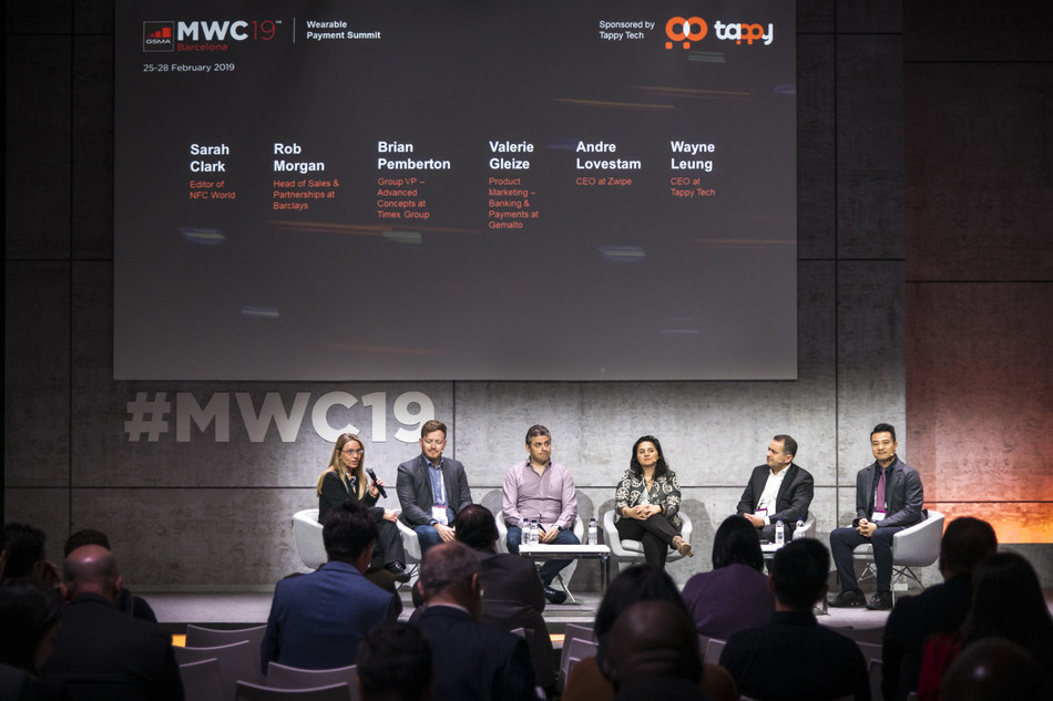 Tappy Technologies at the Wearable Payment Summit during Mobile World Congress last month
