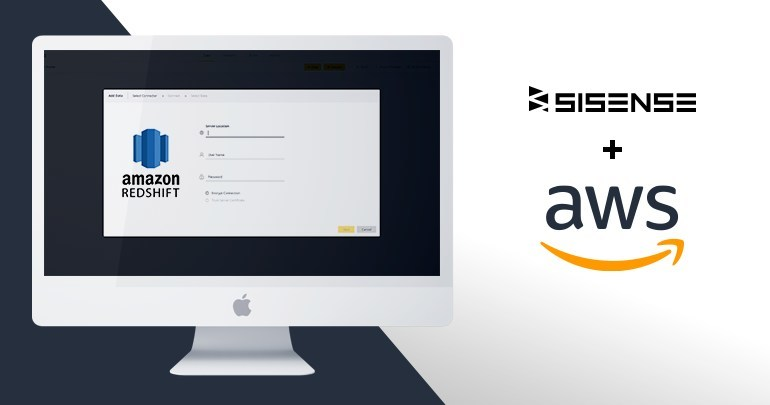 Sisense's Elastic Data Hub allows users to combine live and in-memory, cloud and off-cloud data in a single dashboard leveraging the power of Amazon Redshift