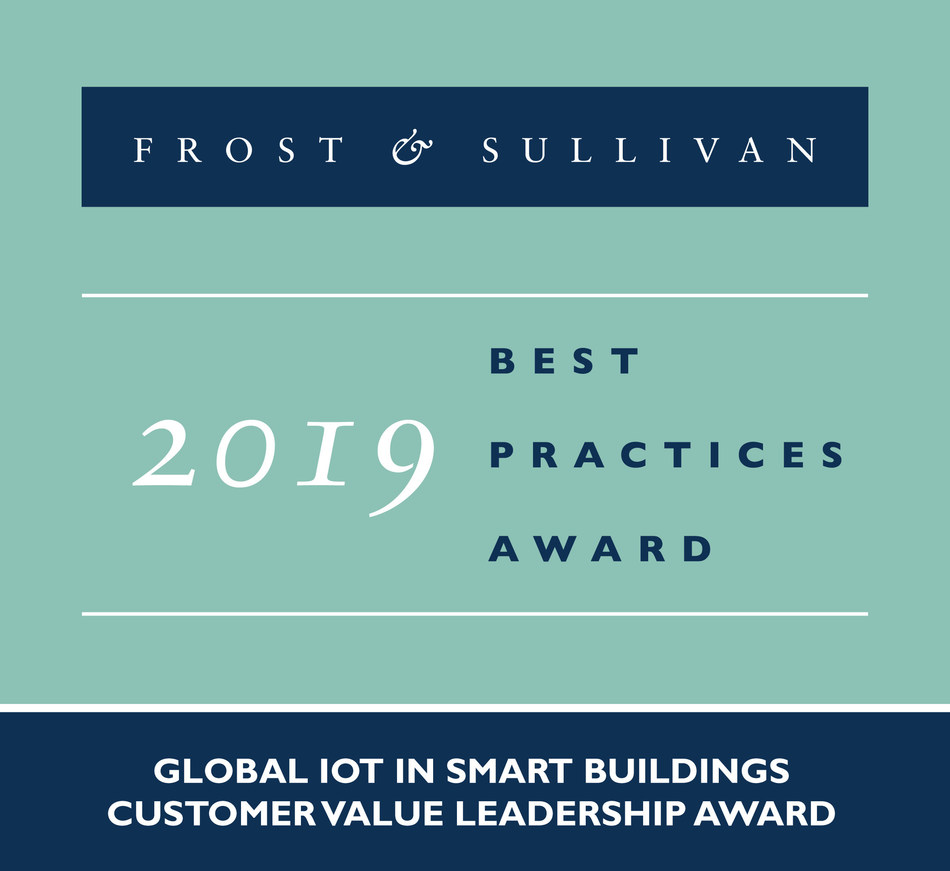 2019 Global IoT in Smart Buildings Customer Value Leadership Award (PRNewsfoto/Frost & Sullivan)