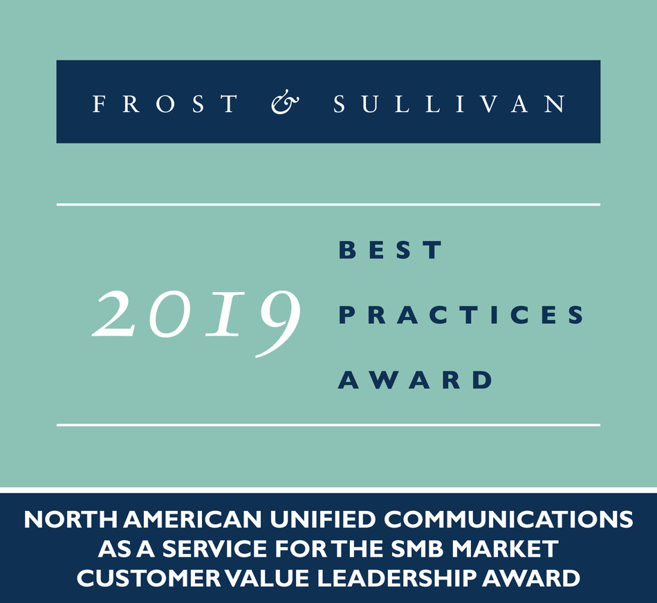 2019 North American Unified Communications as a Service for the SMB Market Customer Value Leadership Award