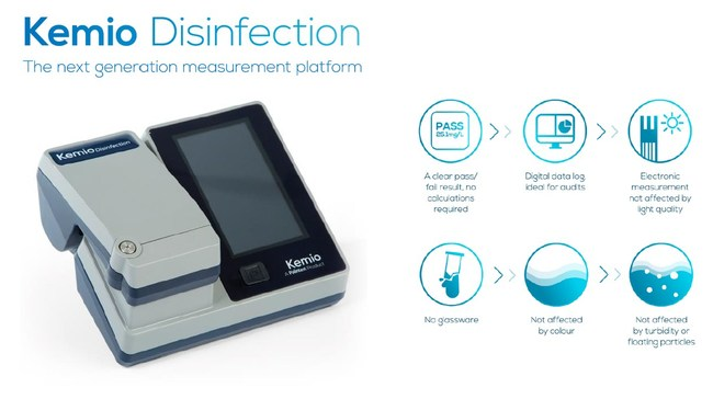 Expertly designed to simplify disinfection monitoring, Kemio gives clear direction for the user to ensure water safety.