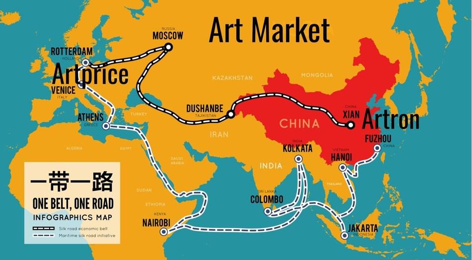 Belt and Road Initiative (BRI) Artprice - Artron - Art Market (PRNewsfoto/Artprice.com)