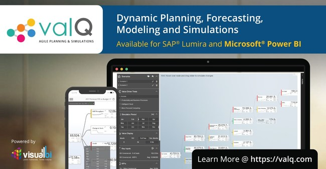 Visual BI's ValQ for Dynamic Planning, Forecasting, Modeling & Simulations
