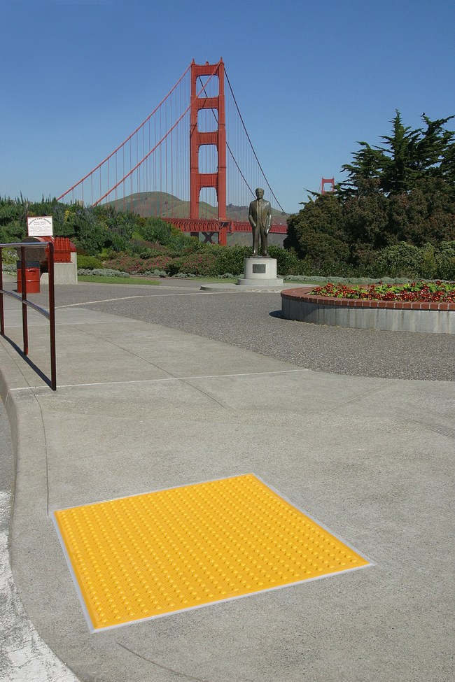 Armor-Tile Tactile Tile, installed at the Golden Gate Bridge