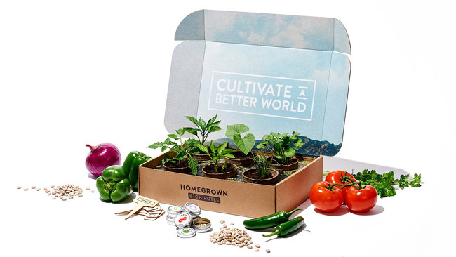"Chipotle's ""Home Grown Chipotle"" Garden Box"
