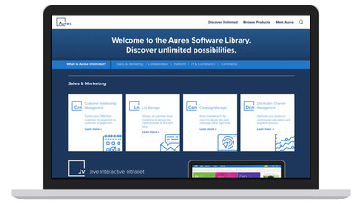 Aurea Unlimited entitles all customers to use every product in Aurea's enterprise software portfolio for a single annual fee.